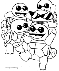 Small Picture Pokmon Squirtle Squad coloring page