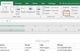 avery template 8965 how to print a excel sheet with lines