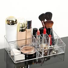 wanita acrylic cosmetic organizer batal makeup ks penyimpanan perhiasan kosmetik kotak display akrilik berdiri rack holder