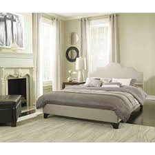 Taupe Bedroom Pri All In 1 Taupe Queen Upholstered Bed Ds 1928 290 The Home Depot