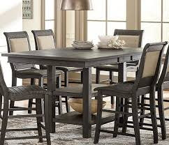 willow distressed dark gray rectangular counter height dining table main image