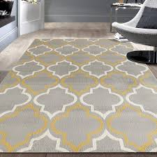 charlton home freeman gray yellow area rug reviews wayfair with and designs 4