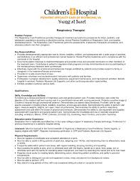 Download Sample Resume For Respiratory Therapist Resume Papers