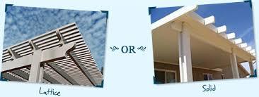 aluminum wood patio covers. Alumawood™ Aluminum Patio Covers: Lattice Or Solid Wood Covers