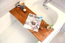 wooden bath caddy tray