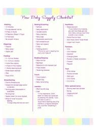 Baby Stuff Checklist New Baby Supply Checklist Baby New Baby Products Baby