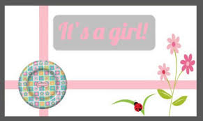 Its A Girl Baby Announcement Free New Baby Ecards 123