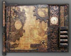 Original <b>Hand</b>-<b>Painted Steampunk</b> Art, Unique, Wall Art | Wall art, Art ...