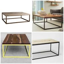 diy modern furniture. Designer Metal And Wood Coffee Table Designs, Plaster Disaster Featured On Remodelaholic.com Diy Modern Furniture