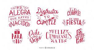 Set De Cumpleaños Con Letras De Cumpleaños En Español
