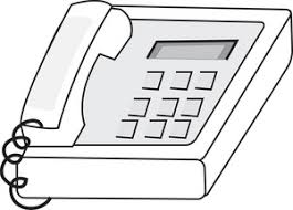 desk clipart black and white. desk phone clipart image: black and white