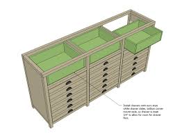 Cabinet Drawer Rails Ana White Printers Triple Console Cabinet Diy Projects