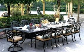 long patio table extra outdoor dining within decor 12