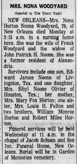Edward James Noone mentioned in Obituary of his mother. - Newspapers.com