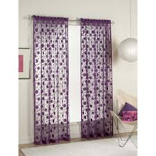 baby nursery purple polka dot fabric valance curtain set chrome polished curtain holder round white