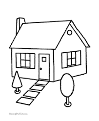 Small Picture House Coloring Pages Sheets and Pictures
