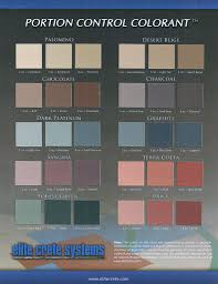 Pcc Charting System Flooring Color Finish Charts Brochures Elite Crete