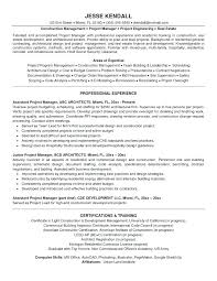 Examples Of Manager Resumes Project Manager Resume Objective