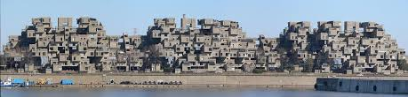 Habitat 67 as seen from Montreal's port