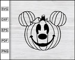 Mickey Mouse Pumpkin svg, Mickey Mouse Ears svg, Disney Halloween svg, –  Editable SVG File