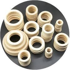 2019 15 75mm <b>DIY Wooden Beads Connectors</b> Circles Rings ...