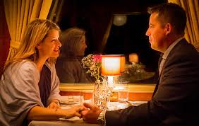 Image result for images dining in a fancy dining car on a train