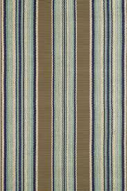 dash albert blue heron stripe indoor outdoor rug for cottage bungalow