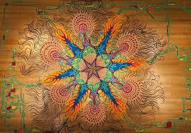 joe mangrum painting with sand is an evocative art