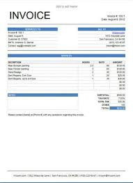 sample invice 25 free service invoice templates billing in word and excel