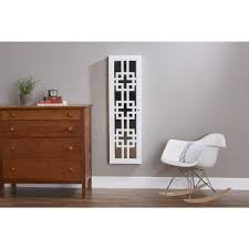 firstime modern jewelry armoire with decorative mirror white