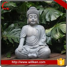 large stone buddha statue for outdoor decor