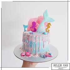 Magical Mermaid Drip Cakecupcakes Bundle Mermaid Party Singapore