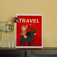 Mid-Century Modern Art for a Travel-Themed Nursery