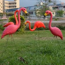 Red <b>Flamingo Ornament Artificial</b> Home Garden <b>Lawn Decoration</b> ...