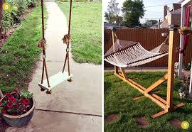 9 diy outdoor swing and hammock projects