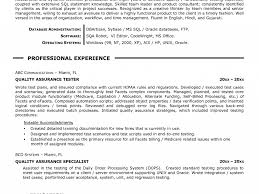 Quality Resume Samples Download Qa Resume Samples DiplomaticRegatta 58