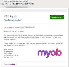 How To Make A Fake Invoice Amazing ESIB Pty Ltd Email Scam Fake Invoices Spreading Malware Soft48Secure