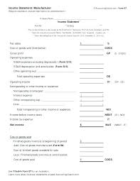 P L Form Sample Pl Statement Pl Restaurant P And L Template Design Monthly