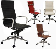 Design Classic Office Chair Modern Classic Design Office Chair In White Leather 26 Mme