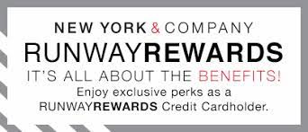 For every $200 you spend on your card you'll get a $10 reward. Runwayrewards New York Company