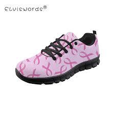 <b>ELVISWORDS</b> Breast Cancer <b>Women</b> Mesh Flats Black Shoe Plat ...