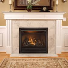 full size dual fuel ventless dual fuel fireplace insert