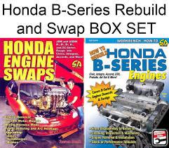 Details About Honda B Series Accord Civic Crx Del Sol Prelude Rebuild And Swap Book Box Set