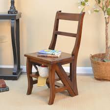 ina cottage chestnut wood folding library chair 1617 nc the home depot