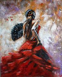 oil painting the magic of flamenco dance vladyart my livemaster