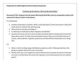 island man poem analysis by magz teaching resources tes poetry comparison essay gcse igcse preparation poems blessing