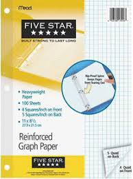 Five Star Graph Paper Notebook Graph Paper