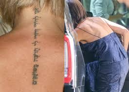 виктория бекхэм избавилась от татуировки в честь мужа журнал