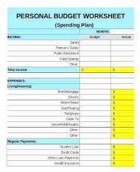 Excel Personal Budget Template New Calendar Site Numbers Spreadsheet ...