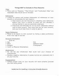 What Does A Resume Include What Should Not Be Included A Resume